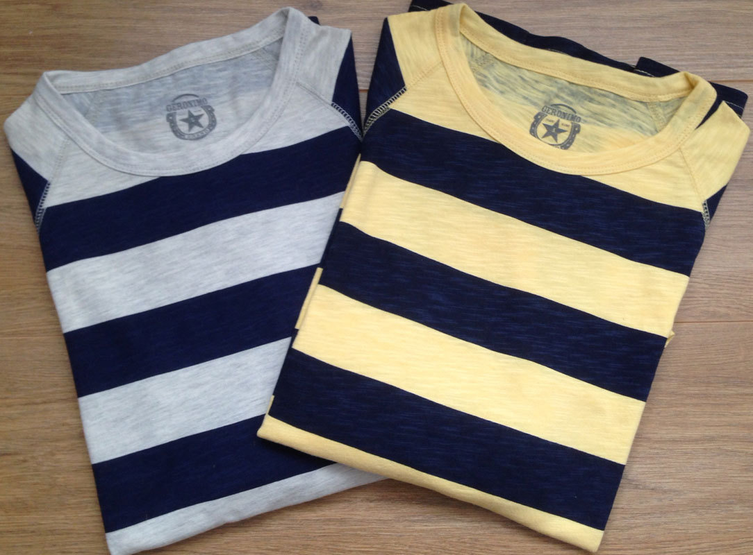 Striped Motorcycle T Shirt Geronimo