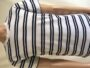 White/navy striped t shirt